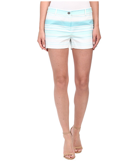 MICHAEL Michael Kors - Striped Mini Shorts (Turquoise) Women's Shorts