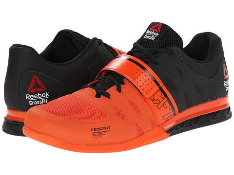 Reebok - Crossfit Lifter 2.0 (Black/Flux Orange) Men's Shoes