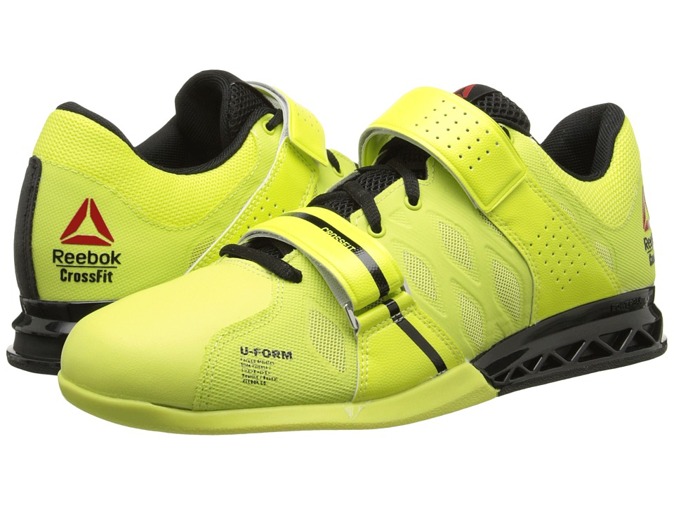Reebok Crossfit Lifter Plus 2.0 High Vis Green-Black Mens Shoes