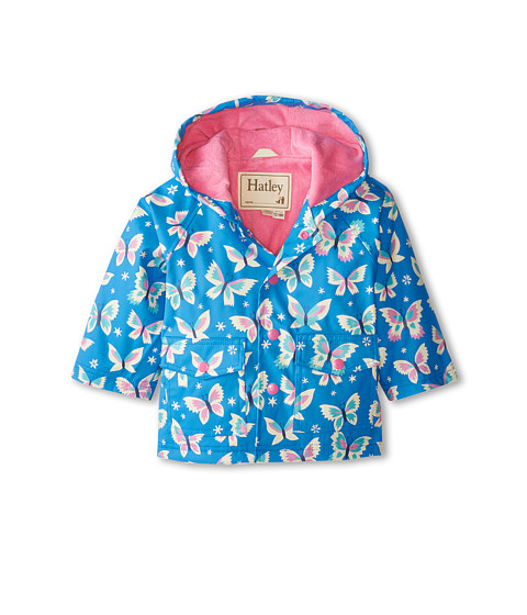 Hatley Kids - Icy Butterflies Raincoat (Infant) (Blue) Girl
