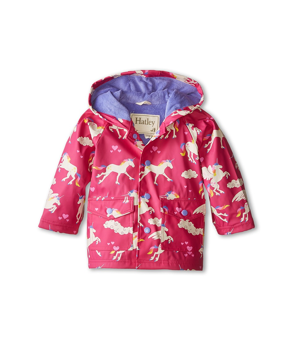Hatley Kids - Unicorns Rainbows Raincoat (Infant) (Pink) Girl's Coat