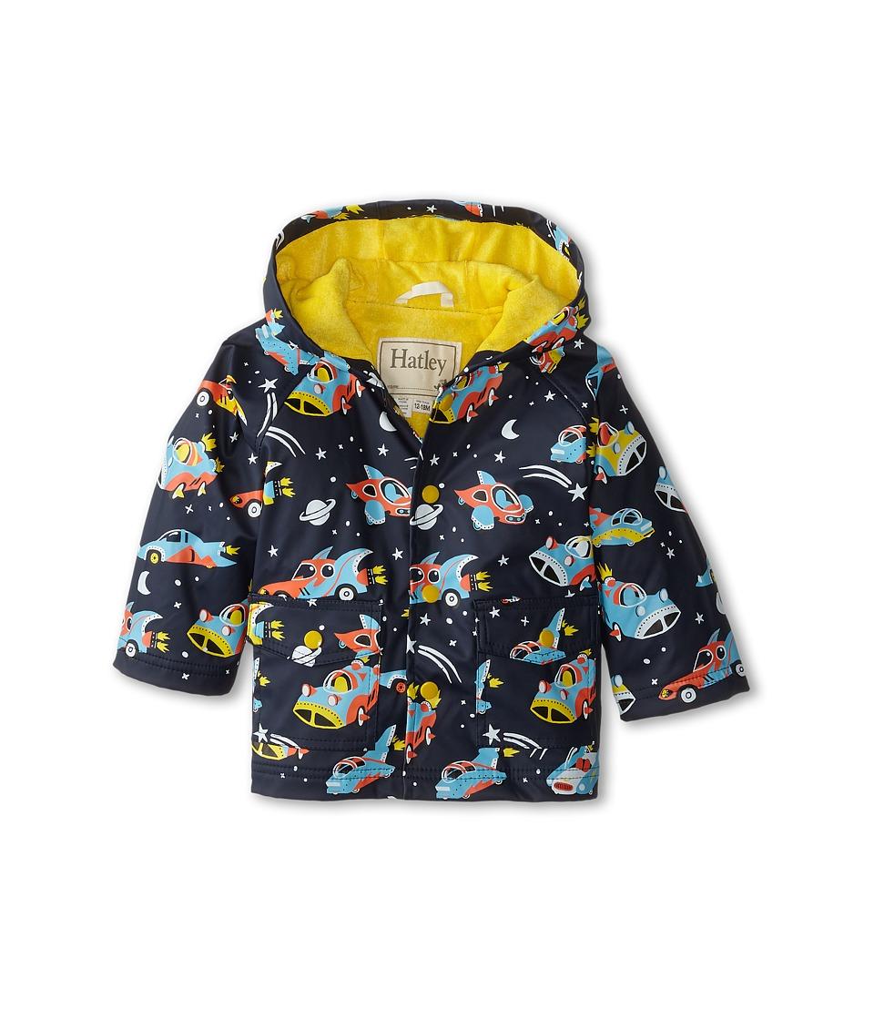 Hatley Kids - Space Cars Of The Future Raincoat (Infant) (Blue) Boy's Coat plus size,  plus size fashion plus size appare