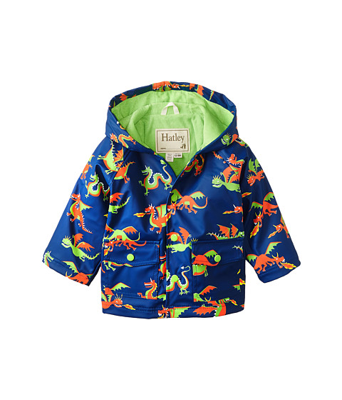 Hatley Kids - Dragons Raincoat (Infant) (Blue) Boy's Coat