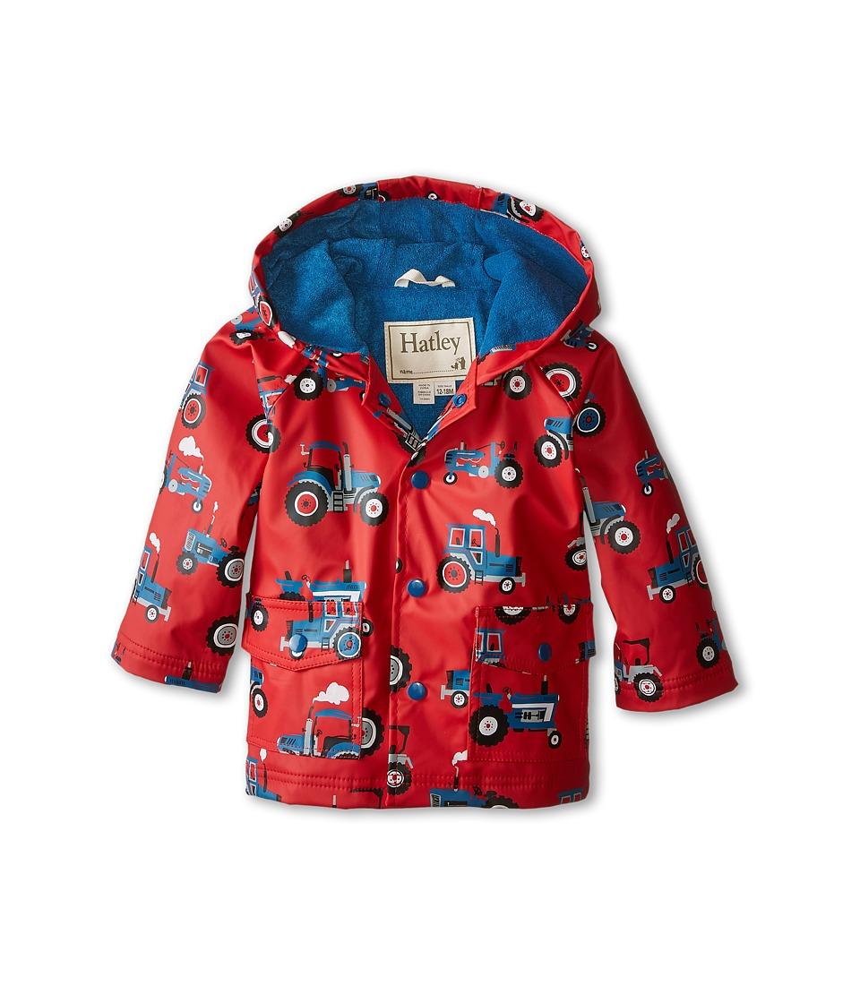 Hatley Kids - Farm Tractors Raincoat (Infant) (Red) Boy's Coat plus size,  plus size fashion plus size appare