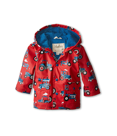 Hatley Kids - Farm Tractors Raincoat (Infant) (Red) Boy's Coat