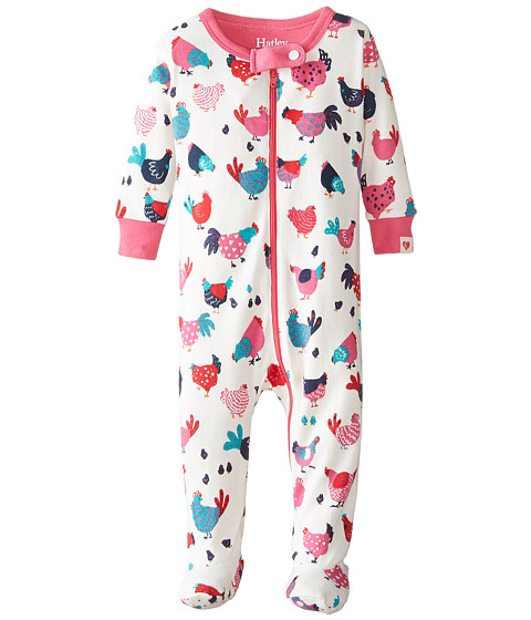 Hatley Kids - Hens Chicks Footed Coverall (Infant) (Cream) Girl