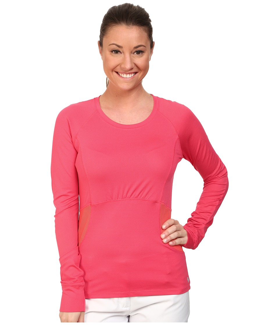 LIJA - Morning Workout Long Sleeve Tee (Hibiscus) Women's T Shirt