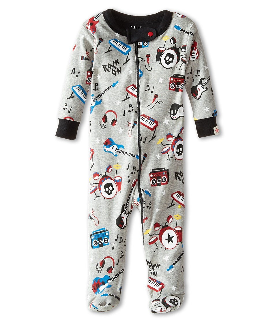 Hatley Kids - Rock Band Footed Coverall (Infant) (Grey) Boy's Jumpsuit & Rompers One Piece