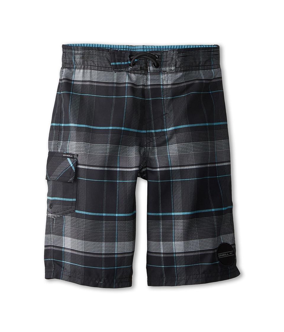 O'Neill Kids - Santa Cruz Plaid (Little Kids) (Black) Boy's Swimwear