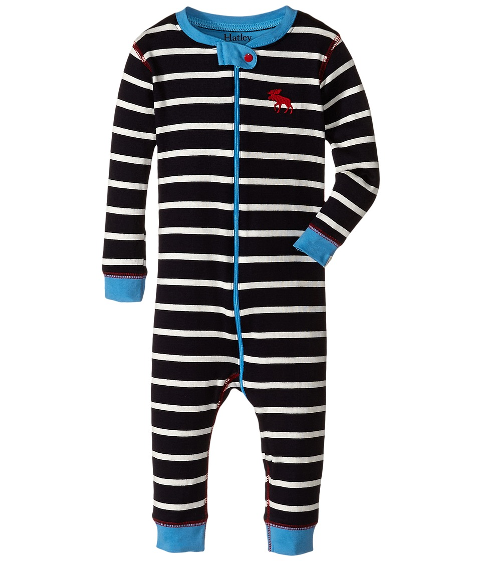 Hatley Kids - Stripe Sleepy Romper (Infant) (Navy) Boy's Jumpsuit & Rompers One Piece