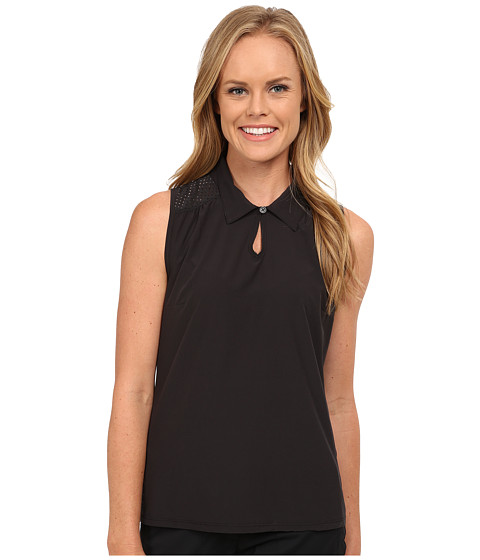 LIJA - Birdie Sleeveless Polo (Black) Women's Sleeveless