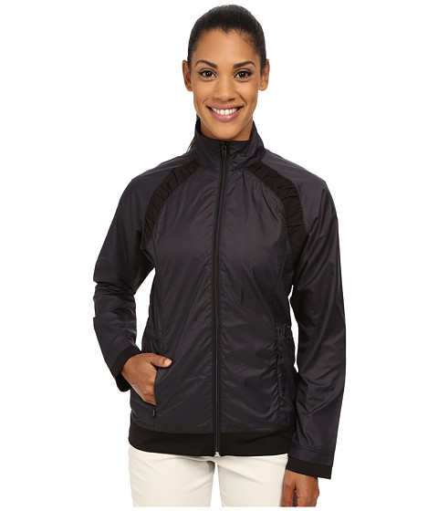 LIJA - Gathered Panel Jacket (Black) Women's Coat