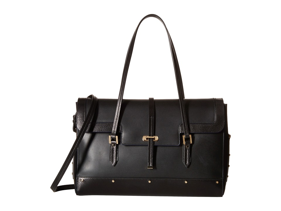 Oscar de la Renta - Medium Satchel (Black) Satchel Handbags