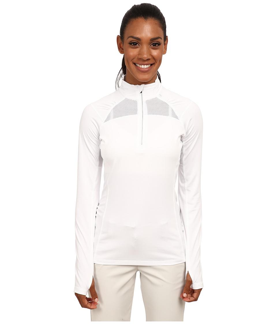 LIJA - Stride 1/4 Zip Pullover (White) Women's Clothing