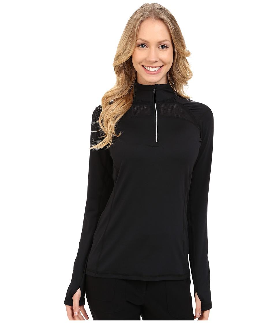 LIJA - Stride 1/4 Zip Pullover (Black) Women's Clothing
