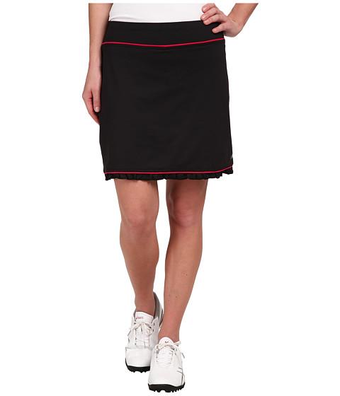 LIJA - Ruffle Hem Skort (Black) Women's Skort