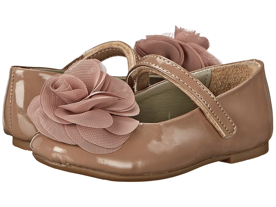 Pazitos - Silk Rose MJ PU (Toddler/Little Kid) (Mocha) Girls Shoes