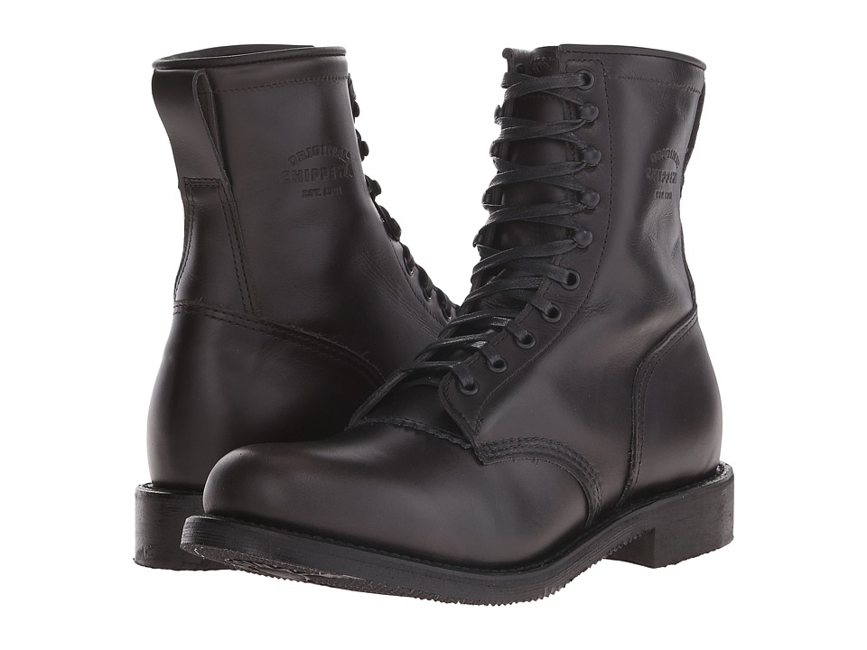 Chippewa - 8 Service Boot (Black) Men's Work Boots