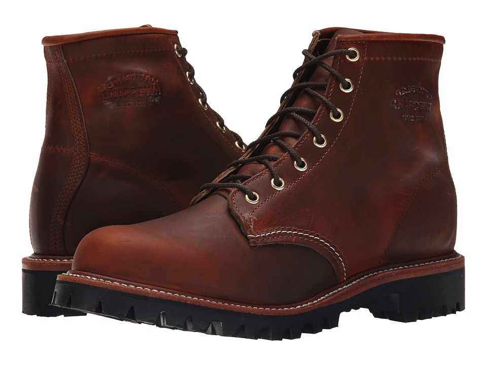 Chippewa - 6 Plain Toe Lugged Boot (Tan Renegade) Men's Work Boots