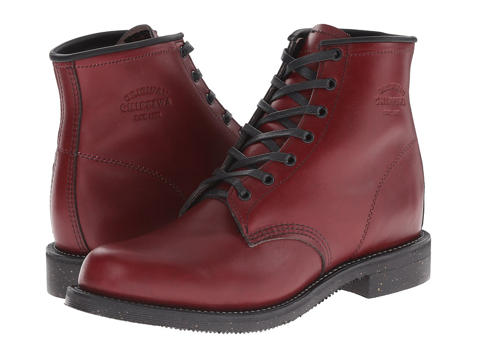 Chippewa - 6 Service Boot (Oxblood) Men's Work Boots