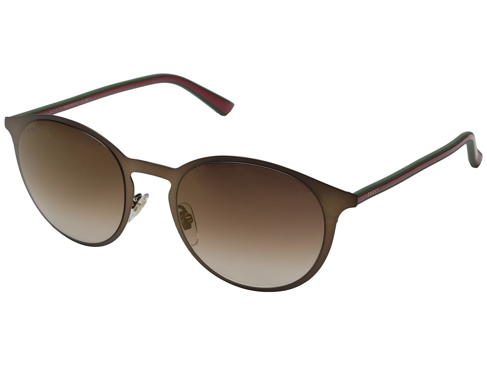Gucci - GG 2263/S (Brown Green Red/Brownish Flash Bronze) Fashion Sunglasses