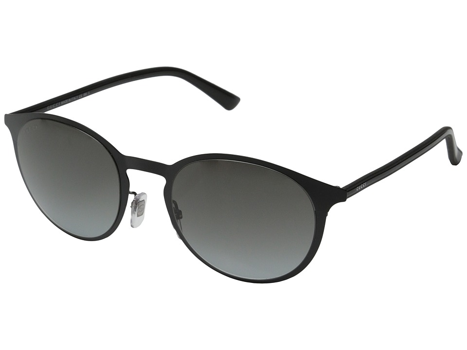 Gucci - GG 2263/S (Matte Shiny Black/Gray Gradient) Fashion Sunglasses