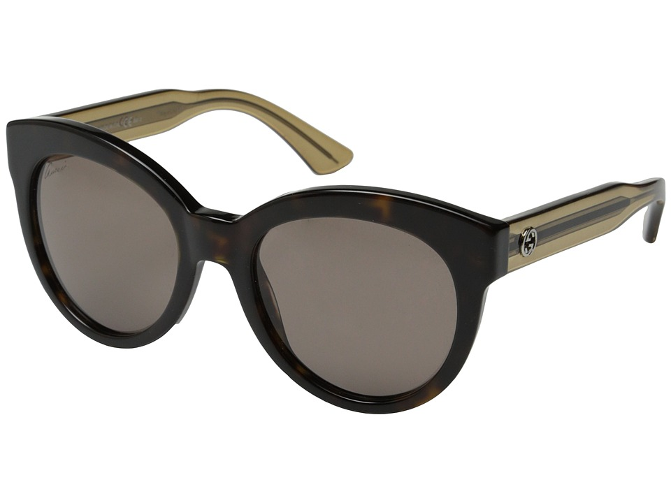 Gucci - GG 3749/S (Havana Beige/Red Brown) Fashion Sunglasses