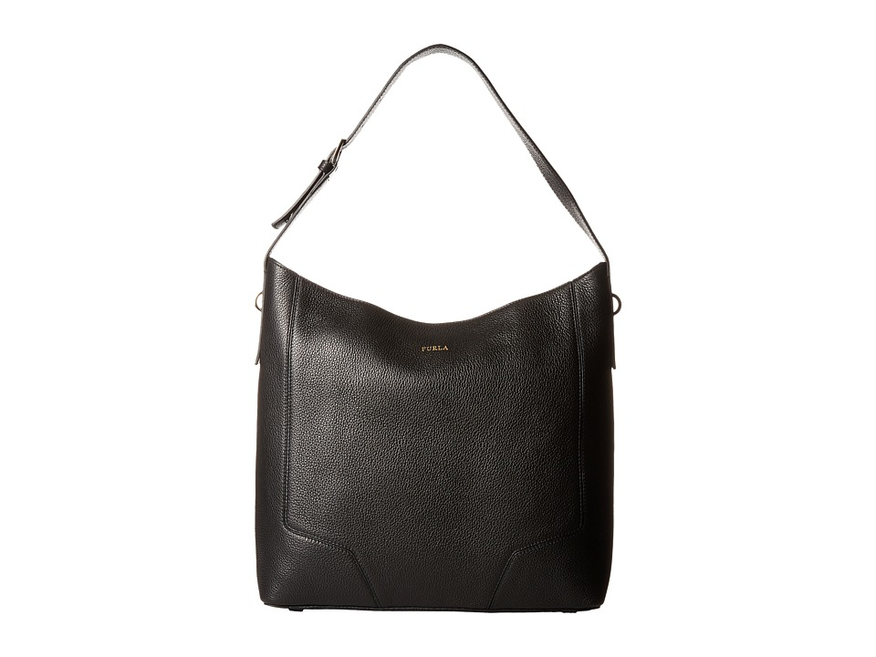 Furla - Perla Medium Hobo (Onyx) Hobo Handbags