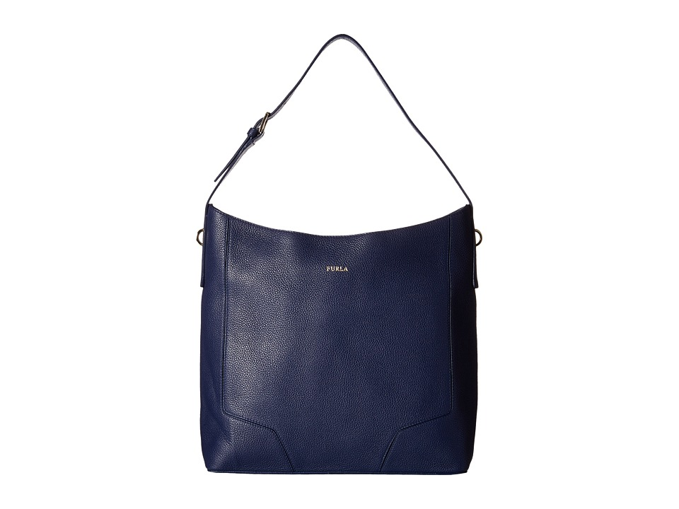 Furla - Perla Medium Hobo (Navy) Hobo Handbags