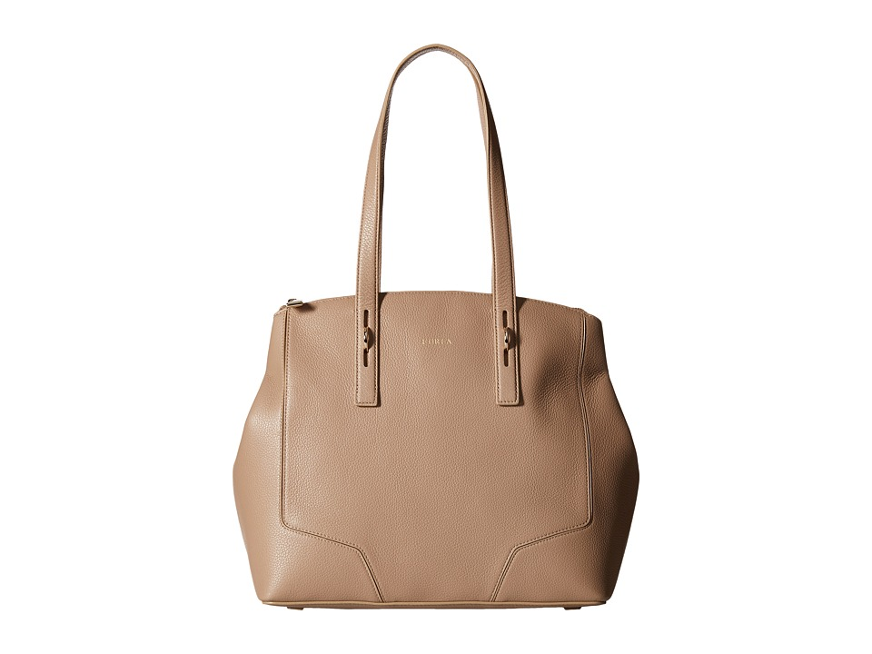 Furla - Perla Medium Tote w/ Zip (New Caramello) Tote Handbags