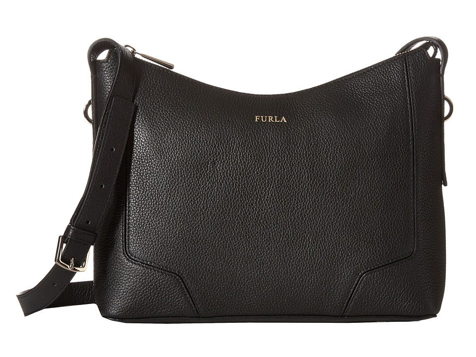 Furla - Perla Small Crossbody (Onyx) Cross Body Handbags