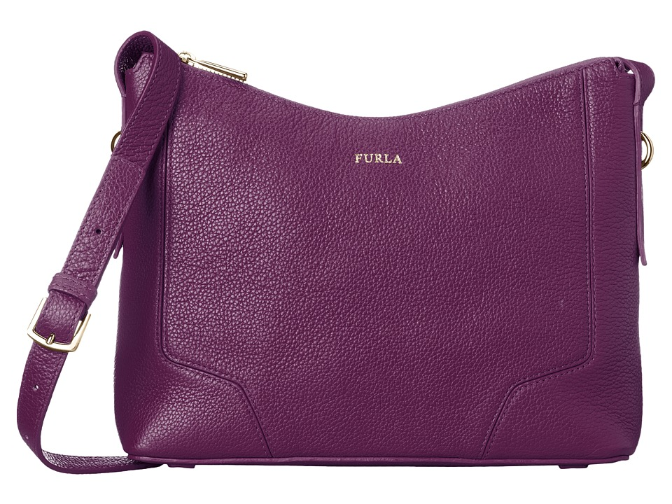 Furla - Perla Small Crossbody (Aubergine) Cross Body Handbags