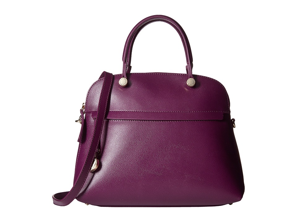 Furla - Piper Medium Dome (Aubergine) Satchel Handbags