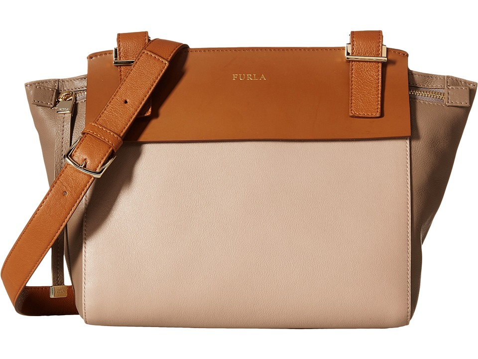Furla - Dolce Vita Small Crossbody (New Caramello/Col.Daino/Siena) Cross Body Handbags