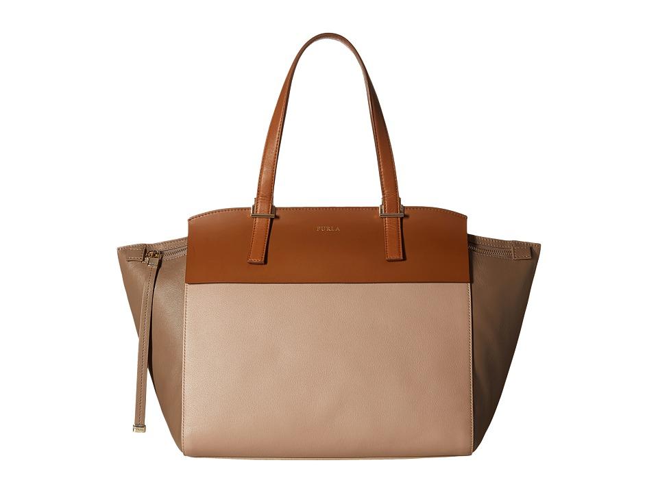 Furla - Dolce Vita Medium Tote C/Zip (New Caramello/Col.Daino/Siena) Tote Handbags