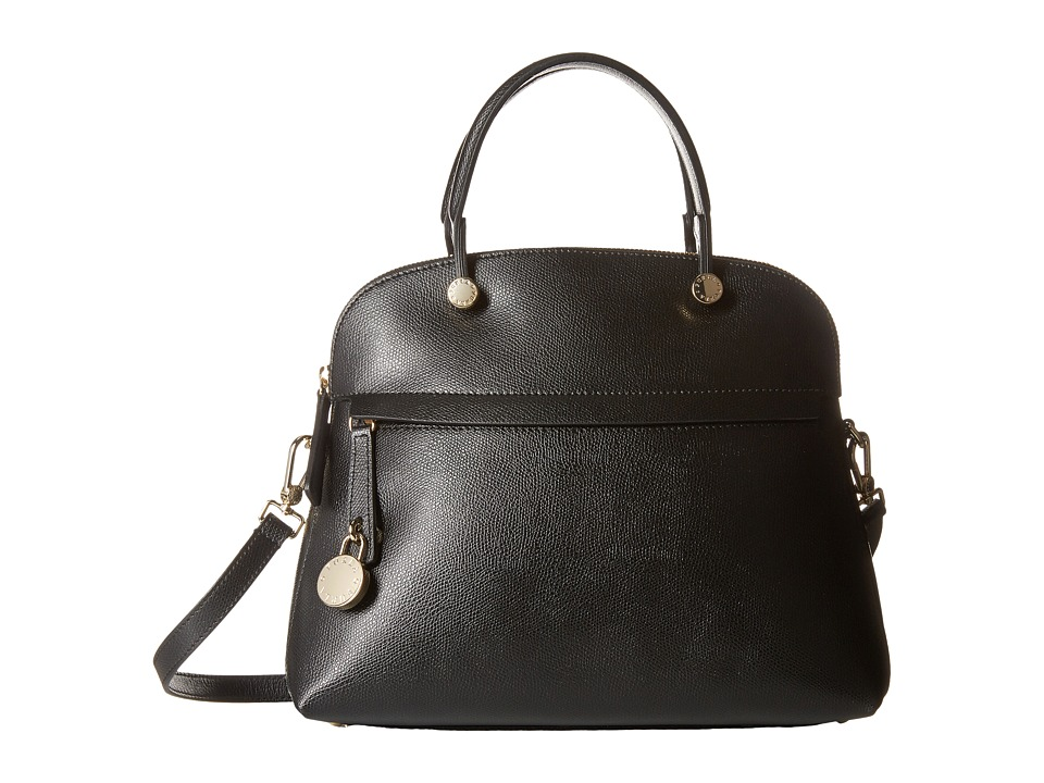 Furla - Piper Medium Dome (Onyx 1) Satchel Handbags