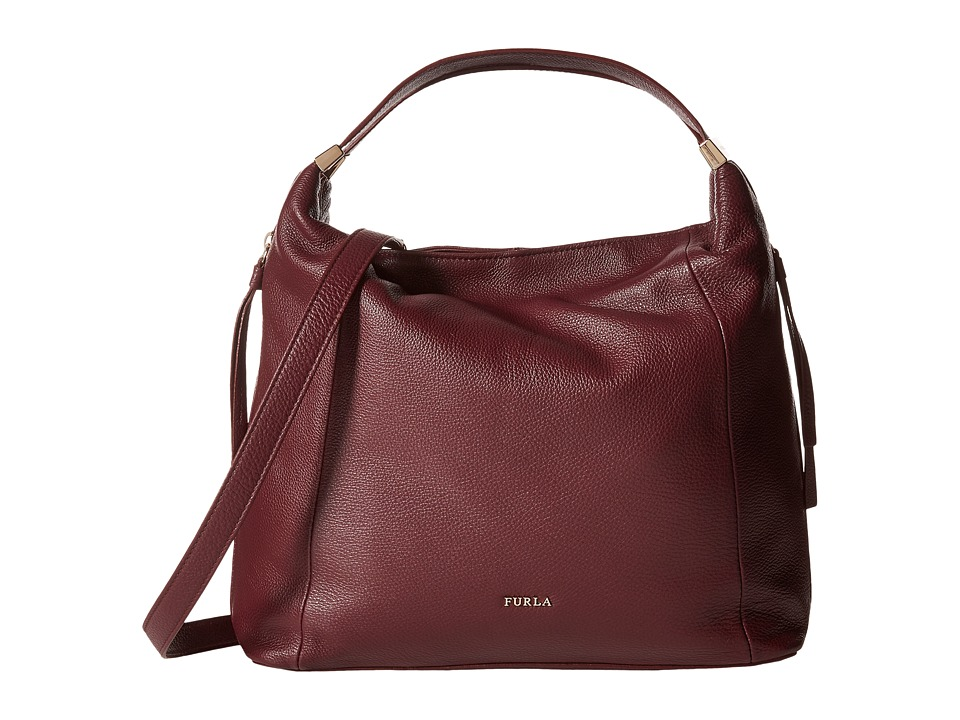 Furla - Liz Medium Hobo C/Tracolla (Barolo) Hobo Handbags