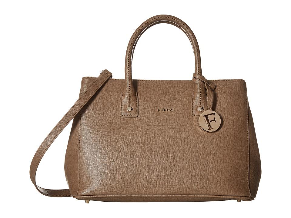 Furla - Linda Small Tote C/Tracolla (Color Daino 1) Satchel Handbags
