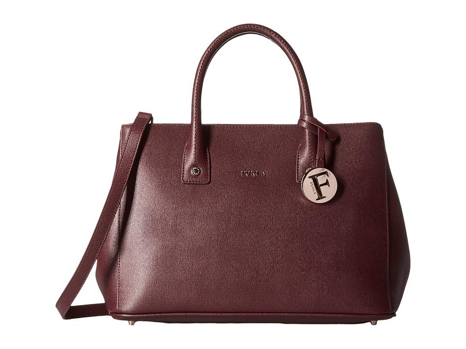 Furla - Linda Small Tote C/Tracolla (Barolo) Satchel Handbags
