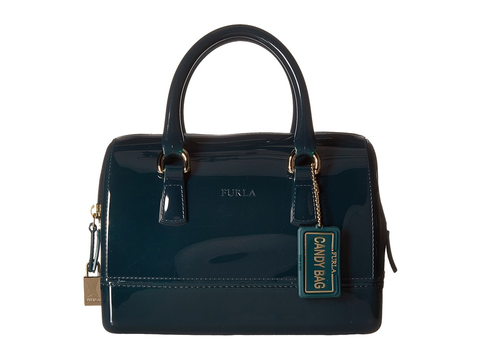 Furla - Candy Mini Satchel (Petrolio) Satchel Handbags