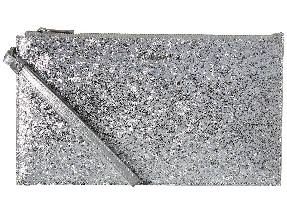 Furla - Babylon Xl Envelope (Color Silver) Clutch Handbags
