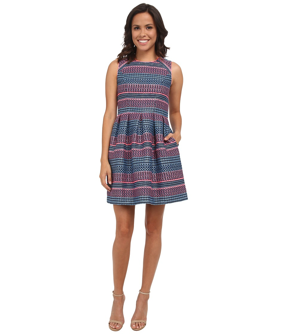 Shoshanna Bridgette Dress (Indigo Multi) Women