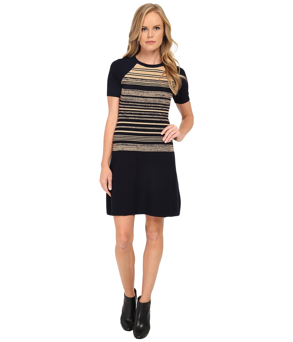 Shoshanna - Bethany Sweater Dress (Navy Multi) Women