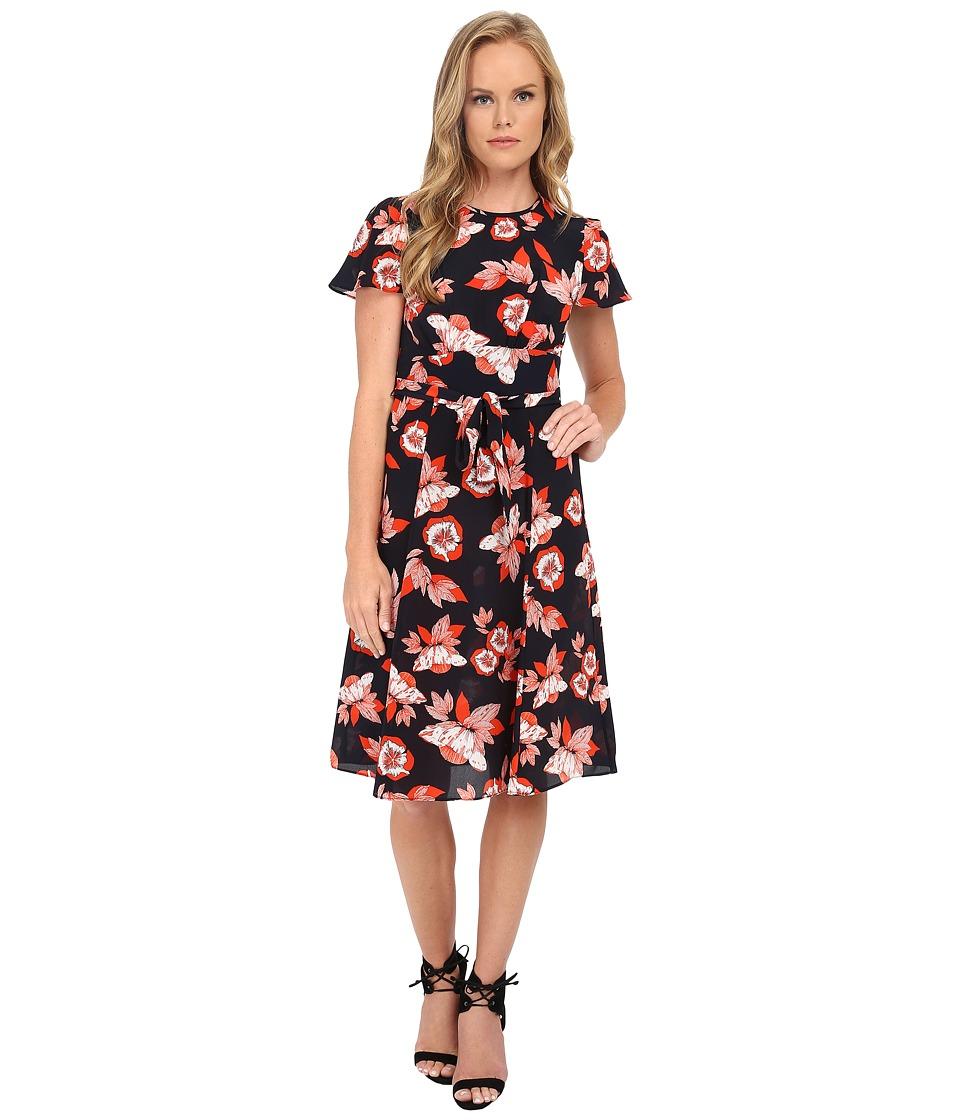 Shoshanna - Lottie Dress (Scarlett Red Multi) Women
