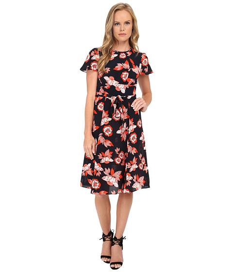 Shoshanna - Lottie Dress (Scarlett Red Multi) Women