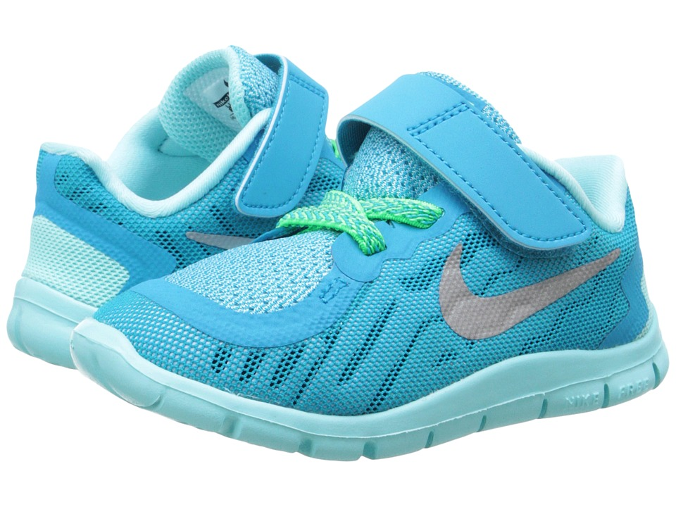 Nike Kids - Free 5 (Infant/Toddler) (Blue Lagoon/Midnight Navy/Copa/Metallic Silver) Boys Shoes