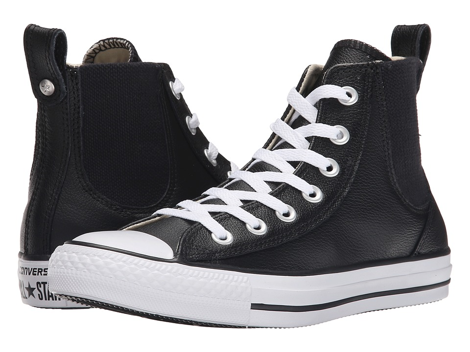 Converse - Chuck Taylor(r) All Star(r) Chelsee Leather (Black/White) Women's Classic Shoes