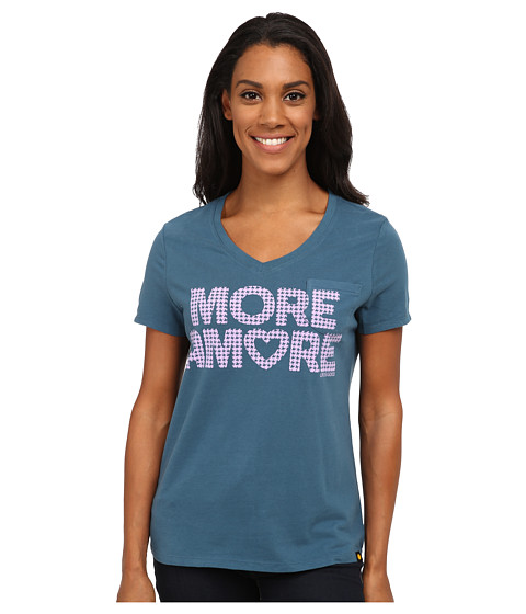 Life is good - Pocket Sleep Vee (Pacific Blue) Women's T Shirt