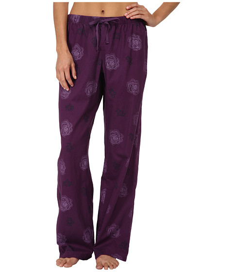 Life is good - Sleep Pants (Smoky Plum Printed Rose) Women