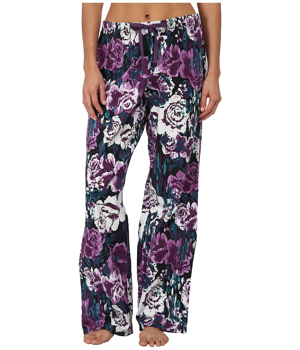Life is good - Sleep Pants (Night Black Printed Floral) Women's Pajama